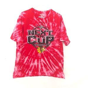 Chicago Blackhawks custom dyed tshirt